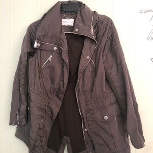 BCBG Olive Green Rain Jacket Size L